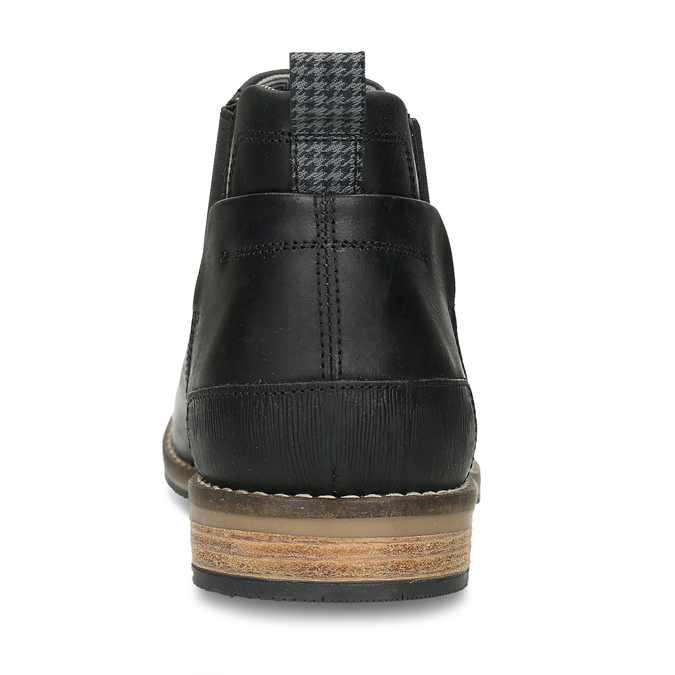 Černá pánská Chelsea obuv kožená bata, černá, 826-6712 - 15