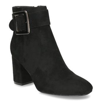 Černá dámská kotníková obuv s výraznou sponou bata, černá, 799-6612 - 13