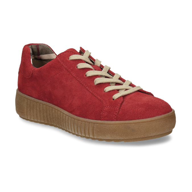 DÁMSKÉ KOŽENÉ TENISKY ČERVENÉ bata, červená, 523-5614 - 13