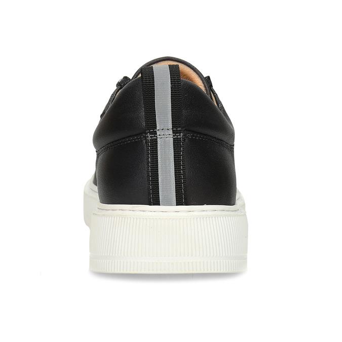 Pánské kožené tenisky v černé barvě bata, černá, 846-2717 - 15