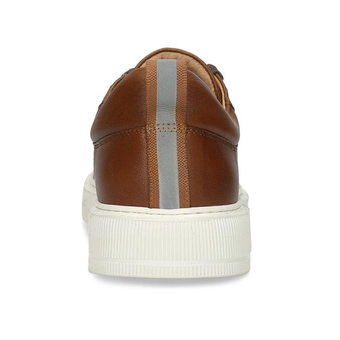 Pánské kožené tenisky v hnědé barvě bata, hnědá, 846-3717 - 15