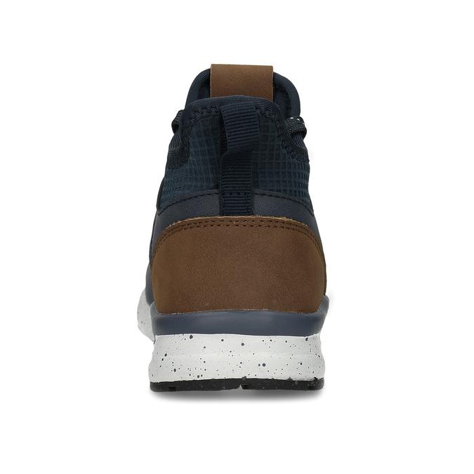 Dětská kotníková obuv modrohnědá mini-b, modrá, 311-9615 - 15