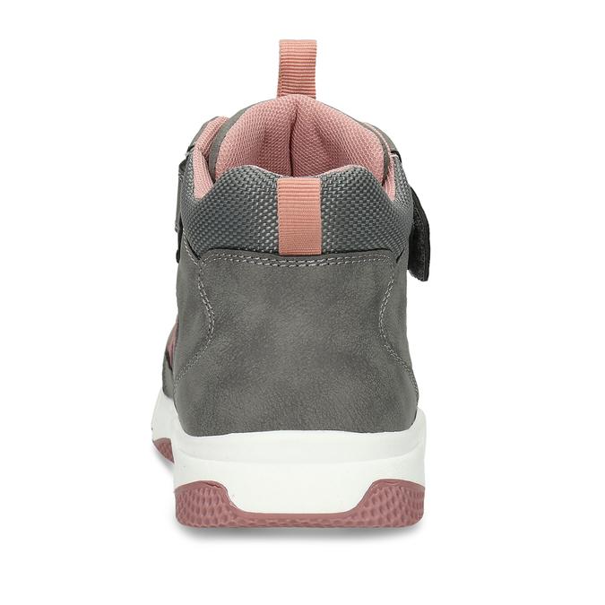 Šedo-růžové dívčí kotníkové tenisky mini-b, šedá, 221-2613 - 15