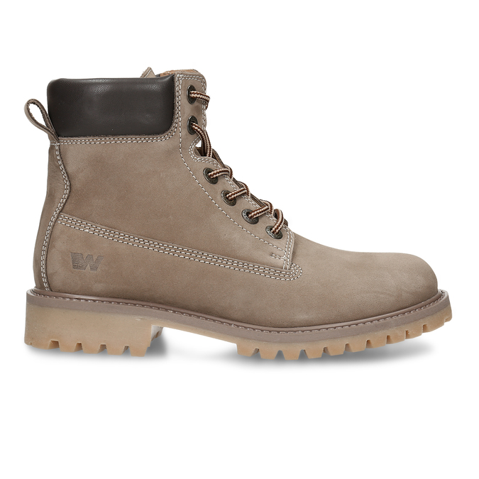 Dámská kožená kotníková obuv světle hnědá weinbrenner, hnědá, 596-4602 - 19