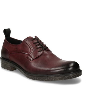 VYCHÁZKOVÉ POLOBOTKY PÁNSKÉ ČERVENÉ KOŽENÉ bata, červená, 826-5600 - 13