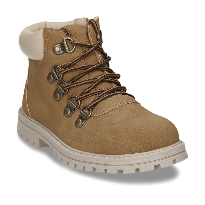 Světle hnědá chlapecká kotníková obuv mini-b, hnědá, 211-4612 - 13