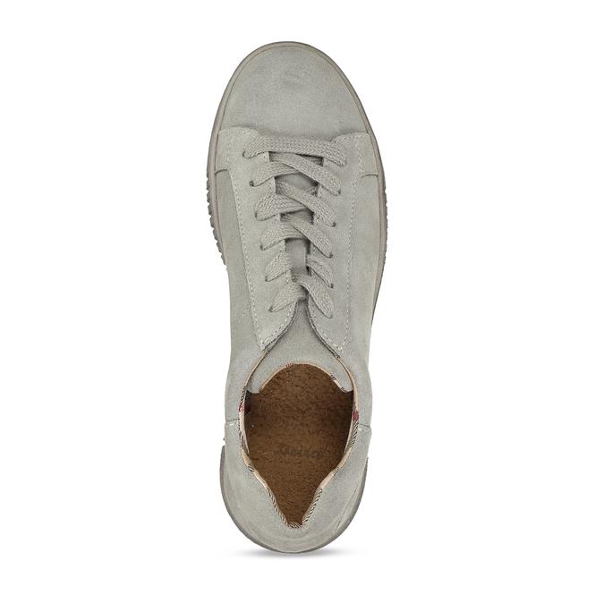 ŠEDÉ DÁMSKÉ KOŽENÉ TENISKY bata, šedá, 523-2614 - 17