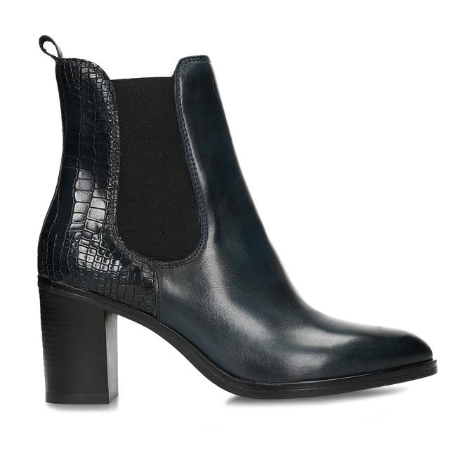 Dámská obuv v Chelsea stylu na podpatku v modré kůži bata, modrá, 794-9601 - 19