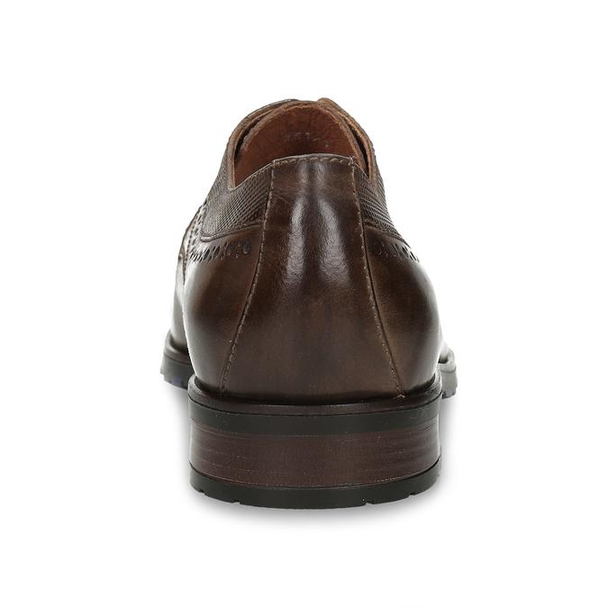 Pánské kožené ležérní polobotky bata, hnědá, 826-4612 - 15