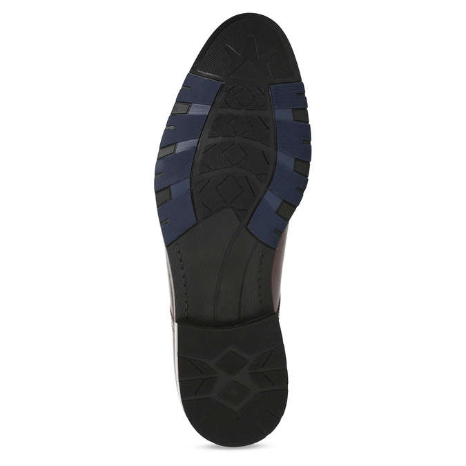 Tmavě modré pánské polobotky bata, modrá, 826-9612 - 18