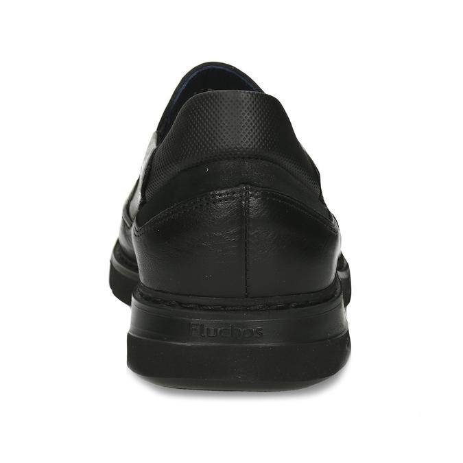 Černé pánské kožené mokasíny fluchos, černá, 814-6703 - 15