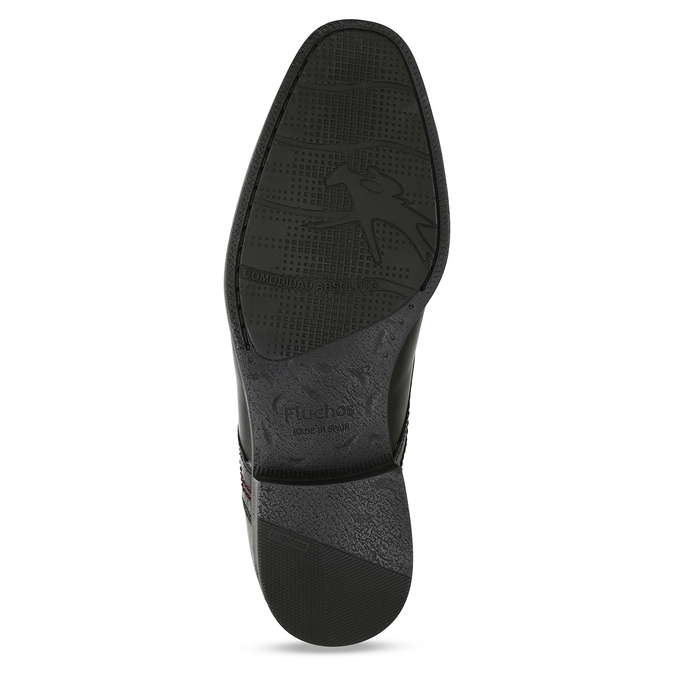 Kožené polobotky v derby stylu fluchos, černá, 824-6717 - 18