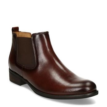 Hnědá kotníková dámská kožená obuv gabor, hnědá, 594-4370 - 13