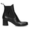 Vyšší černá kožená kotníková obuv s pružením bata, černá, 694-6660 - 19