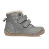 Dětská šedá kožená kotníková zimní obuv froddo, šedá, 194-2610 - 19