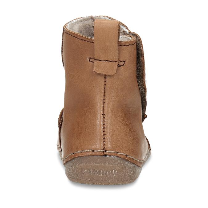 Kožená hnědá dětská zimní kotníková obuv froddo, hnědá, 194-4616 - 15