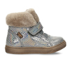 Dívčí šedá kožená zimní obuv s holografickým potiskem froddo, šedá, 194-2612 - 19