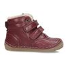 Dívčí vínový kožená zimní obuv froddo, červená, 194-5610 - 19