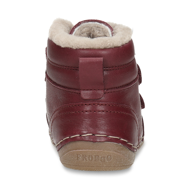 Dívčí vínový kožená zimní obuv froddo, červená, 194-5610 - 15