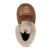 Dětská hnědá kožená zimní kotníková obuv s kožíškem froddo, hnědá, 194-4612 - 17