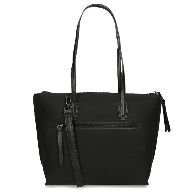 Dámská černá kabelka s úzkými uchy gabor, černá, 961-6887 - 16