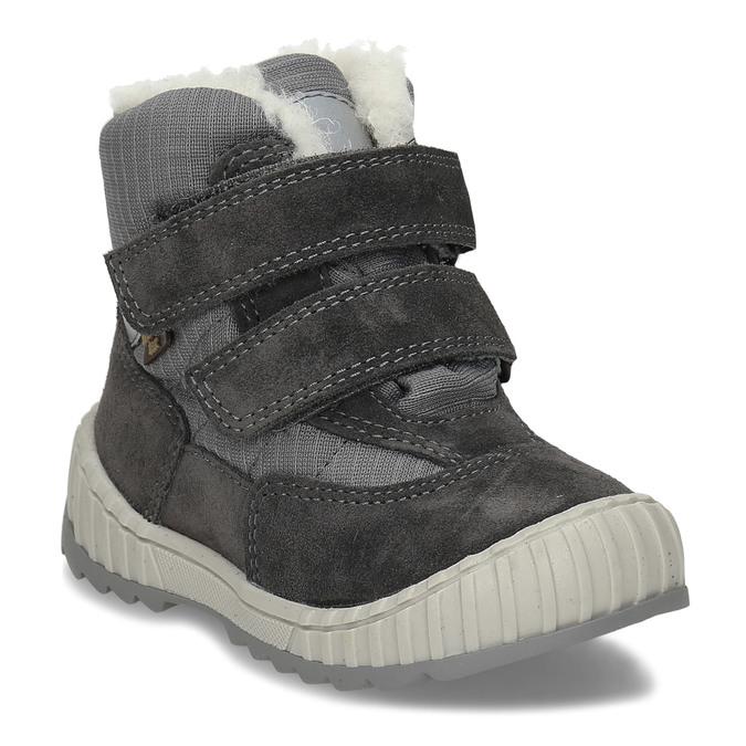 Šedá chlapecká zimní obuv s kožíškem froddo, šedá, 199-2615 - 13