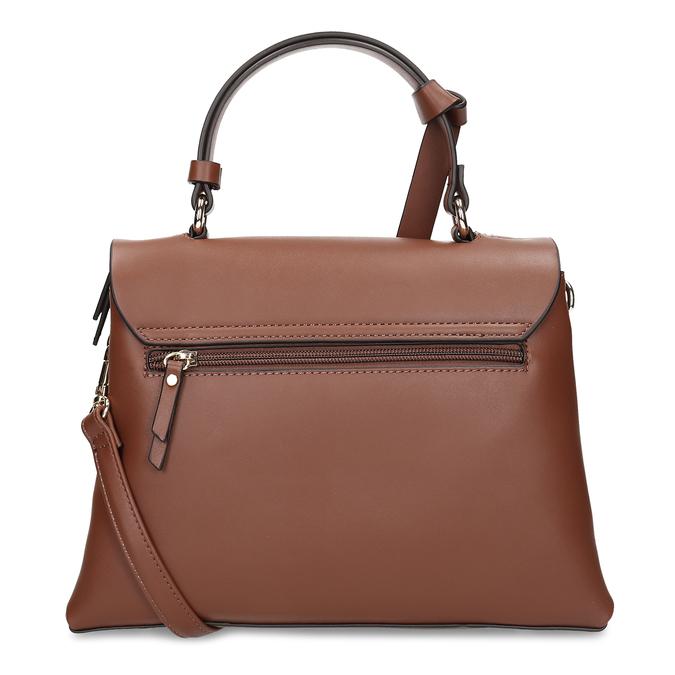 Hnědá dámská kabelka s klopou gabor, hnědá, 961-3805 - 16