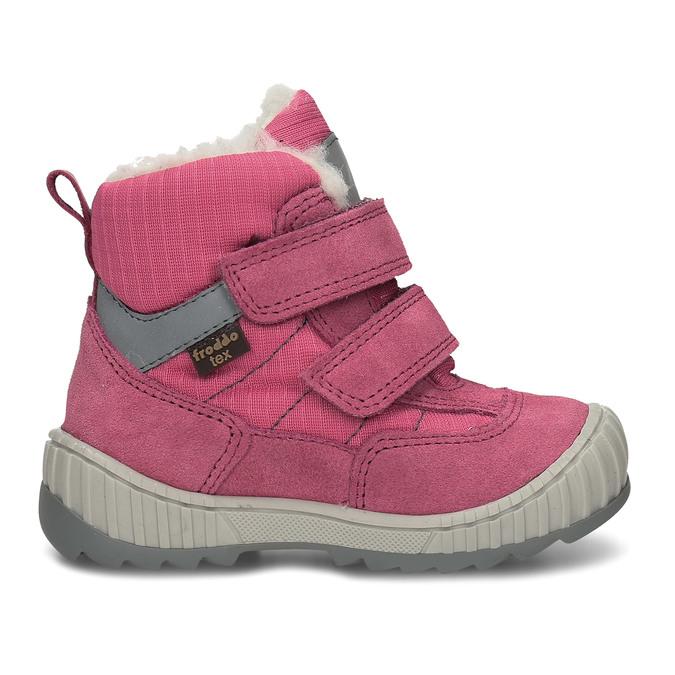 Růžová dívčí zimní obuv s kožíškem froddo, růžová, 199-5615 - 19
