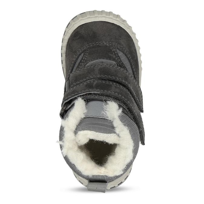 Šedá chlapecká zimní obuv s kožíškem froddo, šedá, 199-2615 - 17