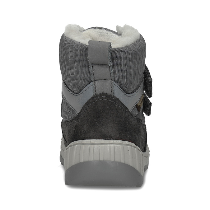 Šedá chlapecká zimní obuv s kožíškem froddo, šedá, 199-2615 - 15