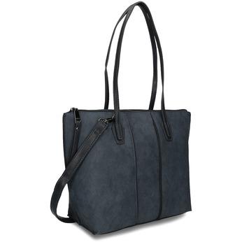 Šedočerná kabelka s dlouhými uchy gabor, modrá, 961-9810 - 13