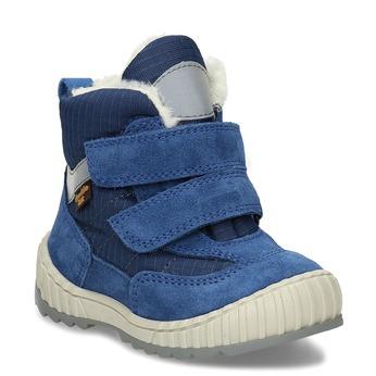 Modrá chlapecká zimní obuv s kožíškem froddo, modrá, 199-9615 - 13