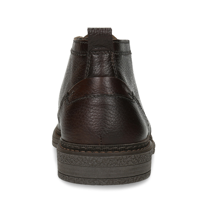 Kožená hnědá pánská kotníková obuv comfit, hnědá, 826-4733 - 15