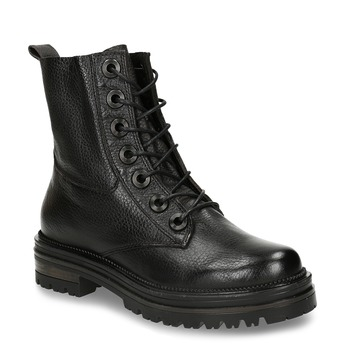 Černá kožená dámská kotníková obuv bata, černá, 596-4626 - 13