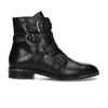 Kožená kotníková obuv s výraznými aplikacemi bata, černá, 594-6733 - 19