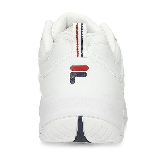 Dámské bílé tenisky na robustní podešvi fila, bílá, 501-1273 - 15