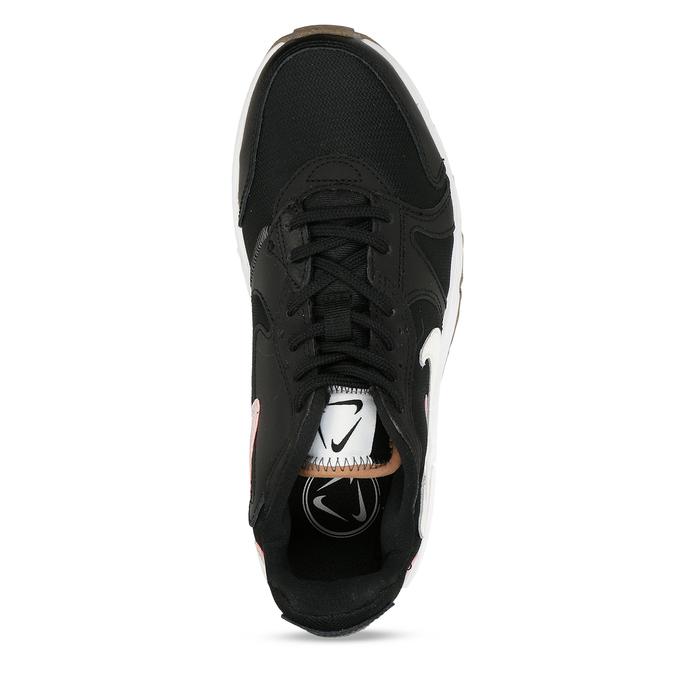 Černé dámské tenisky s výraznou podešví nike, černá, 509-6216 - 17