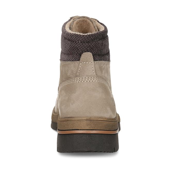 Dámská kotníková kožená obuv v béžové kůži weinbrenner, béžová, 596-4624 - 15