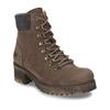 Hnědá dámská kotníková obuv na hrubším podpatku weinbrenner, hnědá, 696-4620 - 13