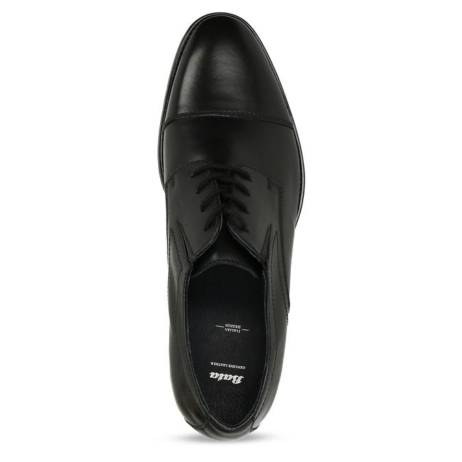 Pánské polobotky derby v černé barvě bata, černá, 824-6701 - 17