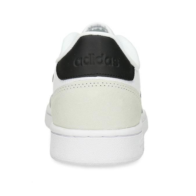 Bílé pánské tenisky s černými pruhy adidas, bílá, 801-1292 - 15