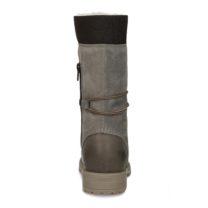 Dámská zimní obuv šněrovací weinbrenner, šedá, 593-2476 - 15