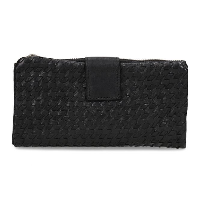 Dámská černá kožená peněženka bata, černá, 944-6111 - 26