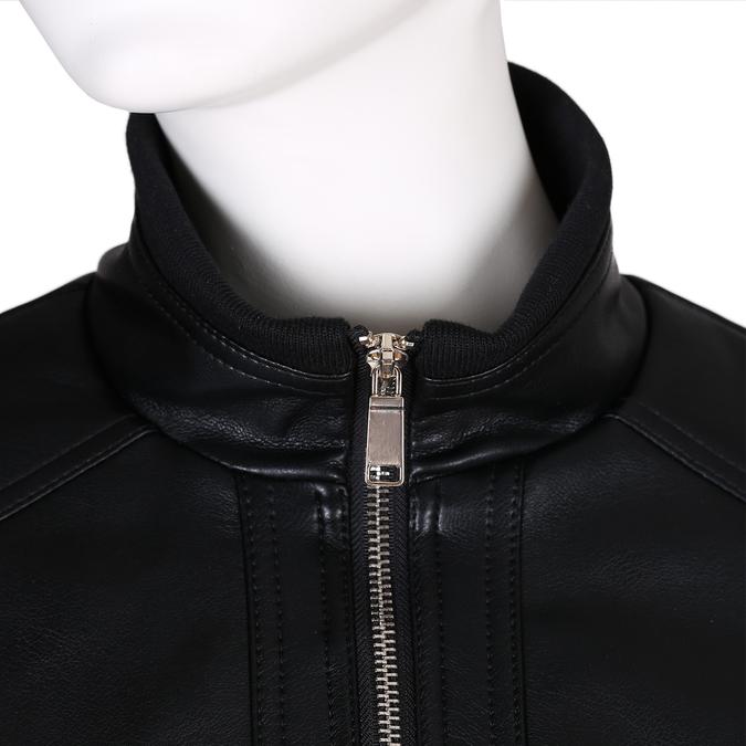 Černá dámská koženková bunda na zip bata, černá, 971-6261 - 16