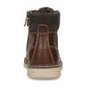 Tmavě hnědá chlapecká zimní kotníková obuv mini-b, hnědá, 211-4618 - 15