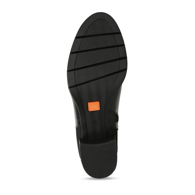 Černé dámské kožené kozačky flexible, černá, 794-6633 - 18