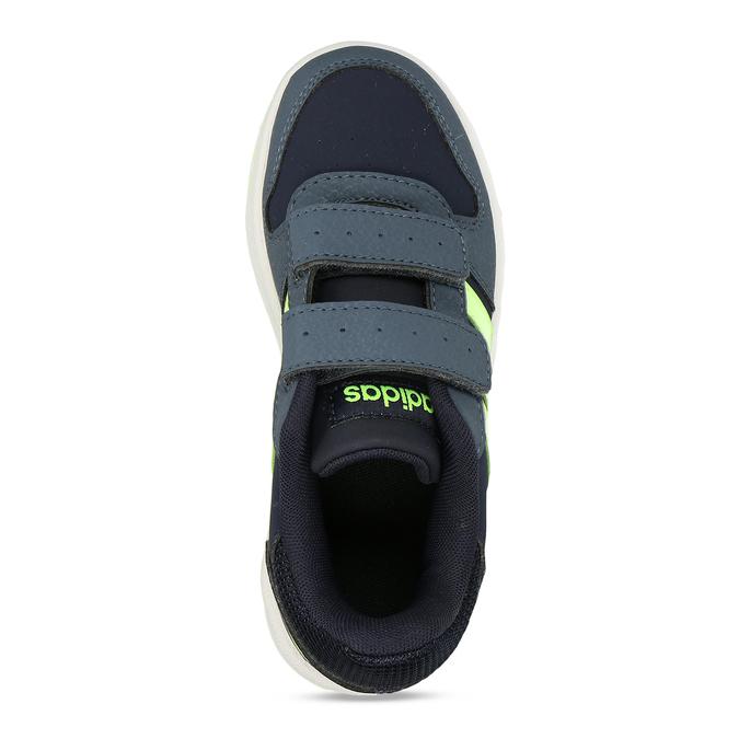Dětské tenisky se žlutozelenými proužky adidas, modrá, 301-9331 - 17