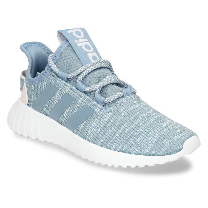 Modré dámské tenisky s pleteným svrškem adidas, modrá, 509-9186 - 13