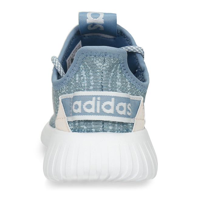 Modré dámské tenisky s pleteným svrškem adidas, modrá, 509-9186 - 15