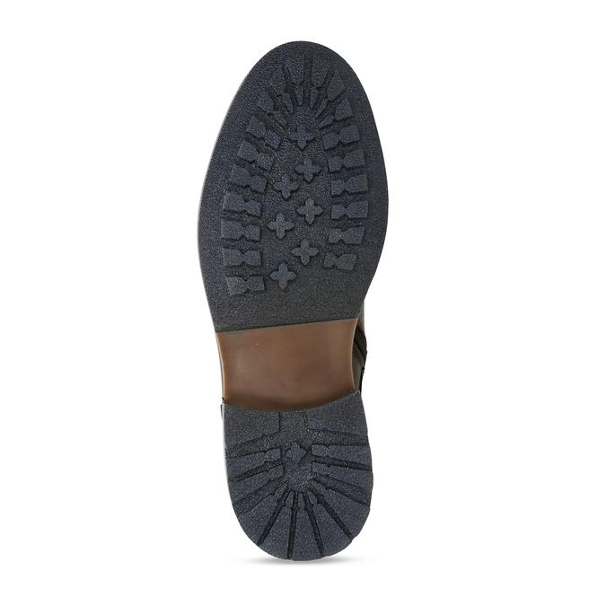 Pánská kotníková obuv v hnědé kůži bata, hnědá, 896-4725 - 18